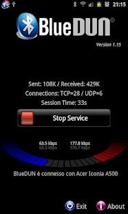 BlueVPN [DUN client] <ICS- miniatura screenshot
