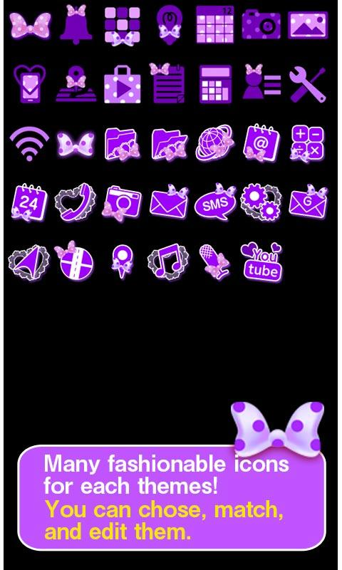 Purple polka dot for [+]HOME - screenshot