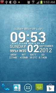 Super Typo Weather Info Clock - screenshot thumbnail