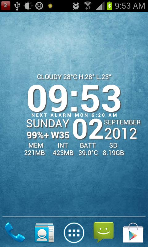 Super Typo Weather Info Clock - screenshot
