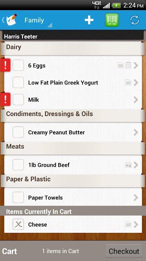 Grocery List & Shopping List - screenshot