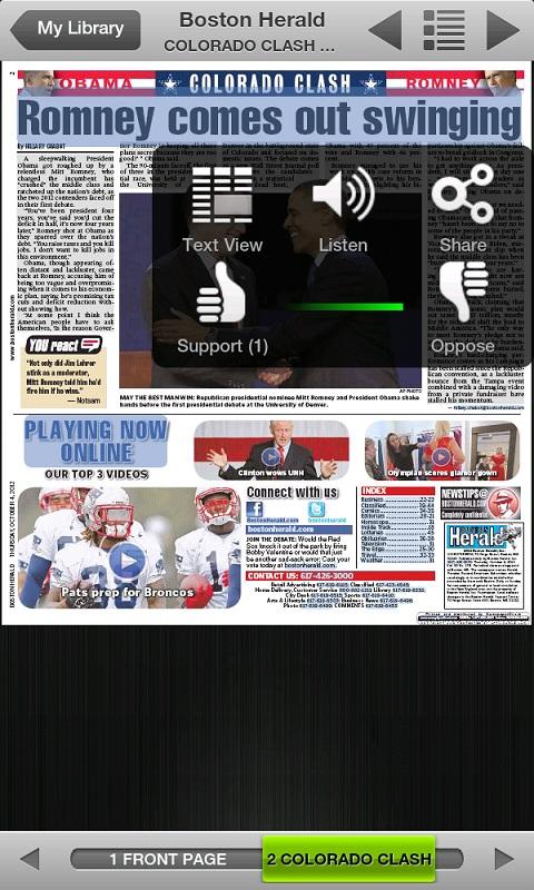 Boston Herald e-Edition - screenshot