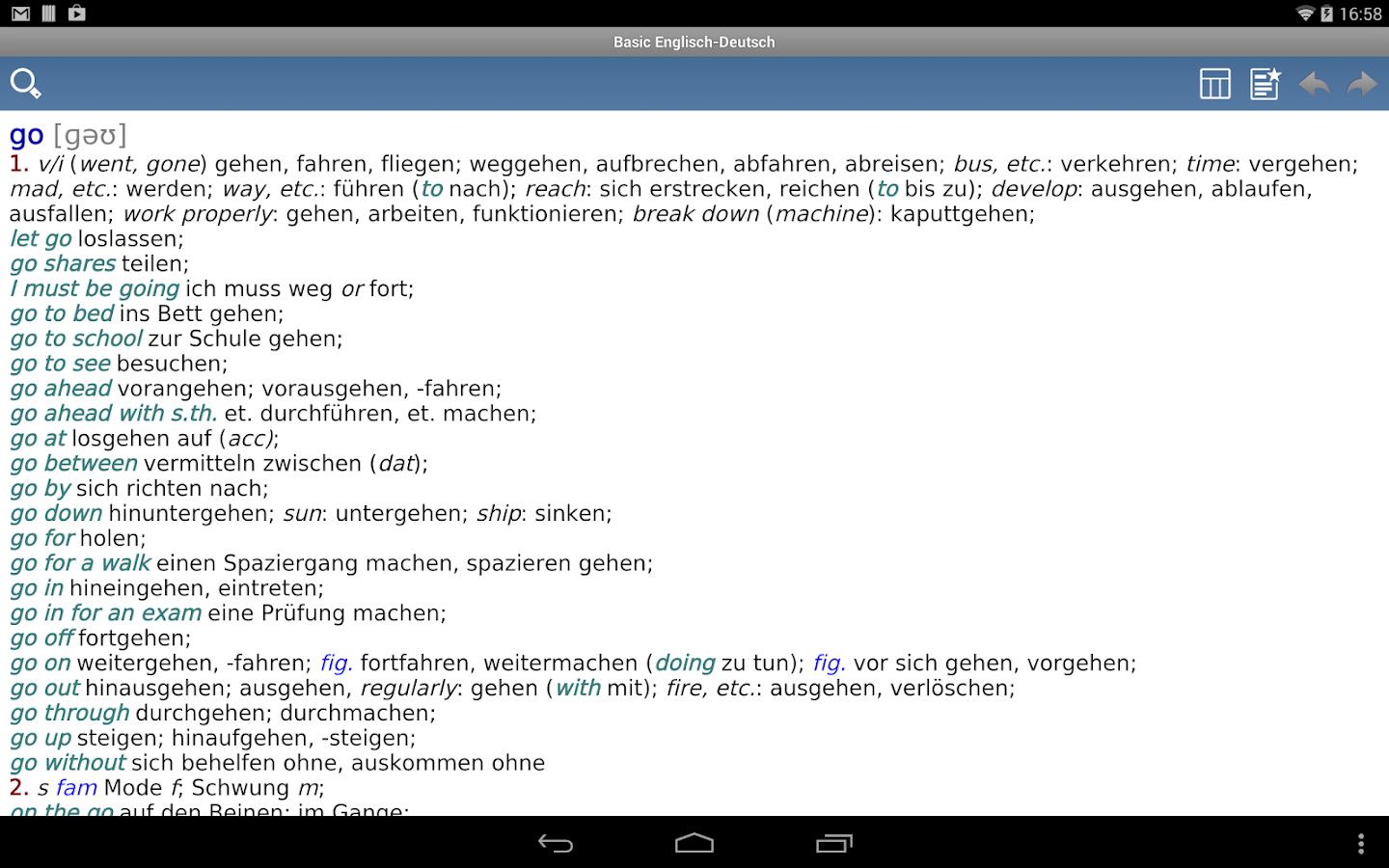 Basic Englisch- screenshot