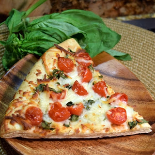 Fresh Tomato and Basil Pizza
