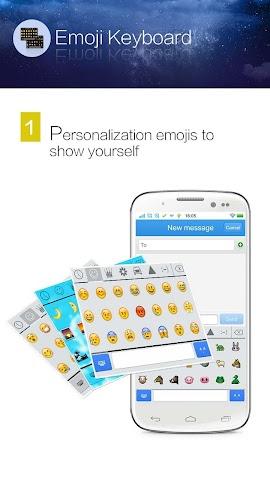 android Kika Emoji Keyboard - GIF Spaß Screenshot 0