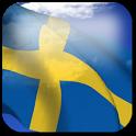 3D Sweden Flag + icon