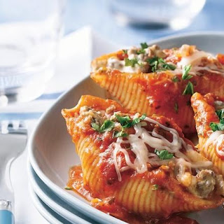 Three-Cheese Beef Pasta Shells