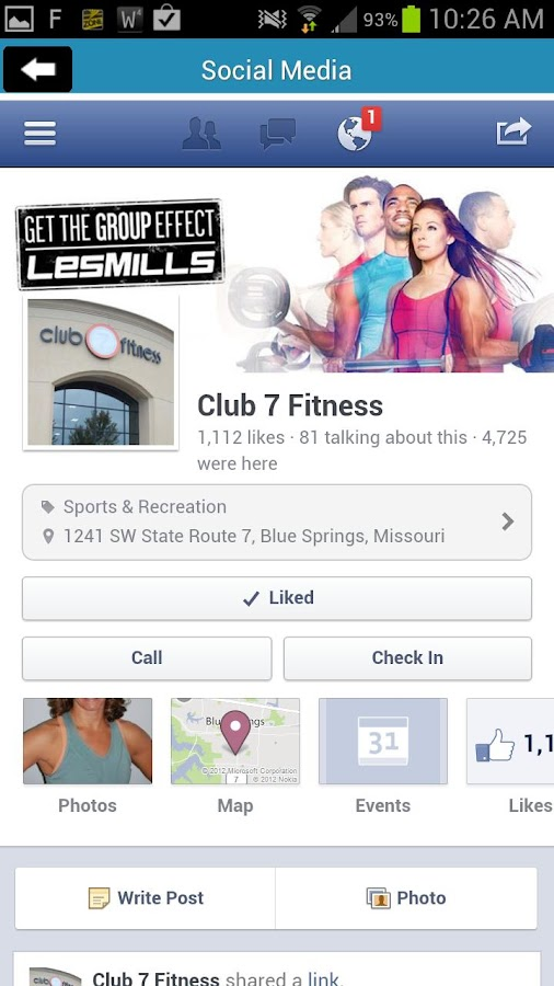 Club 7 Fitness - screenshot