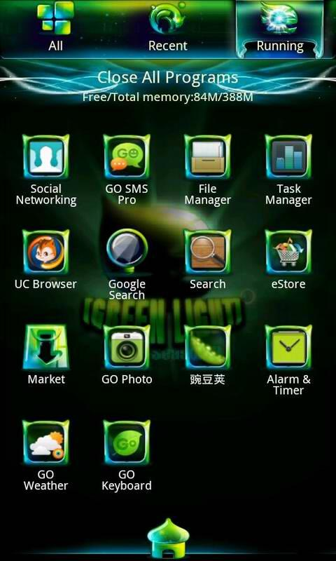 Greenlight golauncher EX theme - screenshot