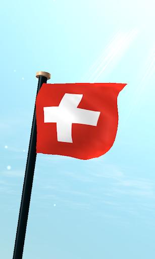 瑞士旗3D動態桌布