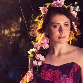 flowers by John Siryana - People Portraits of Women