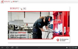 Screenshot of BERUFE.TV für Tablet