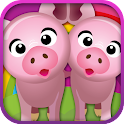 Animal matching PRO for kids icon