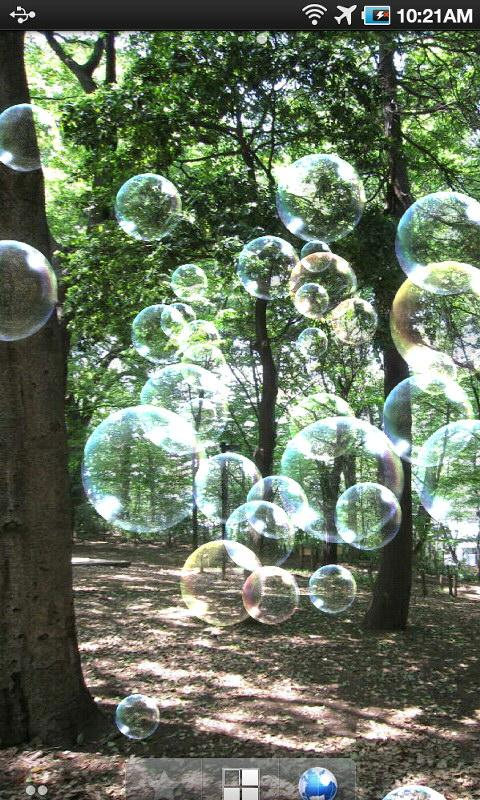 Soap bubble LiveWallpaper - screenshot