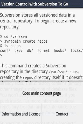 Subversion Documentation To Go- screenshot