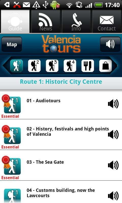 Valencia Walking Tours, audio - screenshot