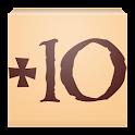 Plus 10 - Level counter icon