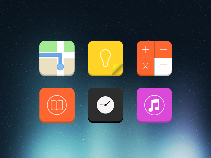Flat Candy Icons (Apex, Nova)- screenshot