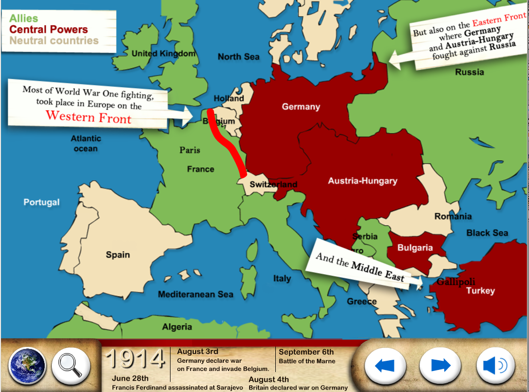 World War One WW1 For Kids Google Play Store revenue – Map of Germany for Kids
