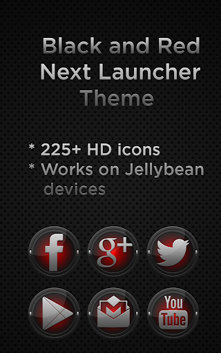 Next Launcher Black Red Theme