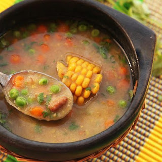 Quick and Easy Dairy and Fat-Free Colombian Vegetable Soup (Ajiaco Negro).