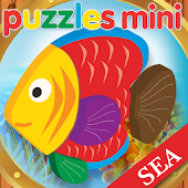 Puzzles sea for children