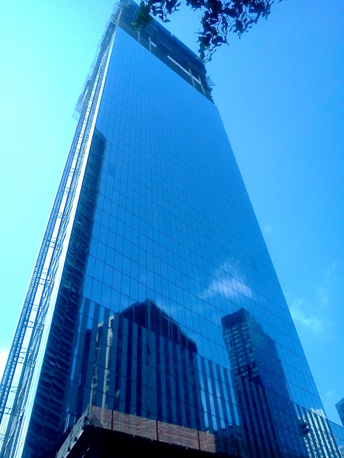 The New World Trade Center by Angela Theresa Egic - Instagram & Mobile Android ( reflection, world trade center, glass, nyc, city )