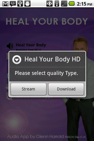 Heal Your Body - Glenn Harrold - screenshot