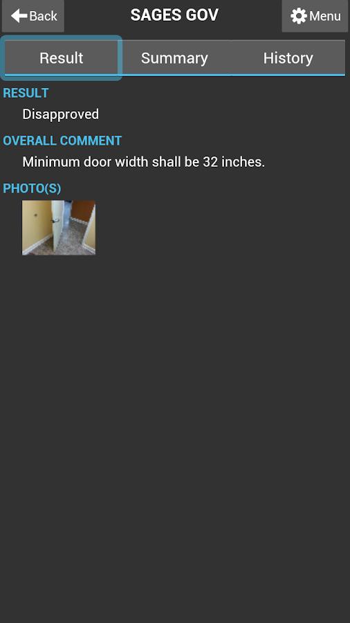SagesGov Inspections - screenshot