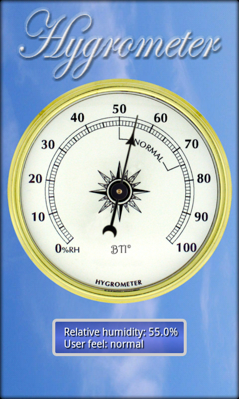 Hygrometer- screenshot