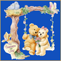 Teddy Bears on swing LWP logo