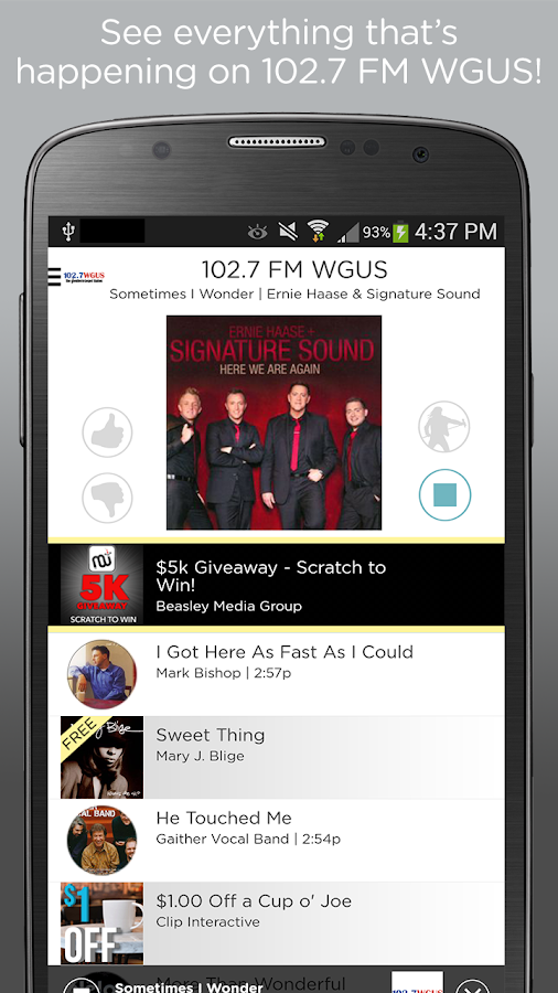 102.7 WGUS- screenshot