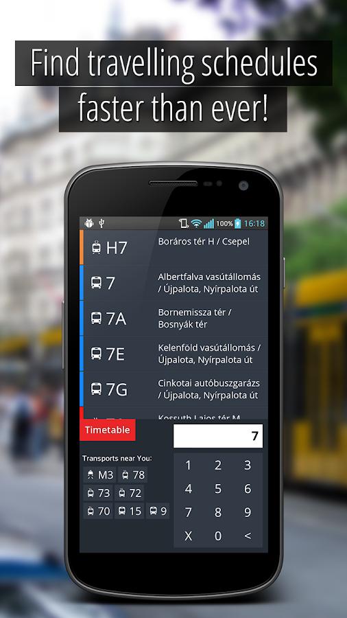 SmartCity Budapest Transport- screenshot