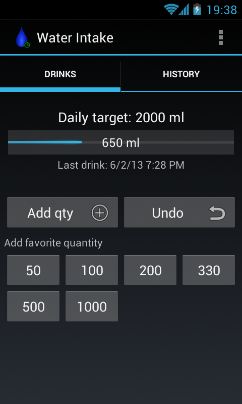 Water Intake - drink, hydrate!- screenshot