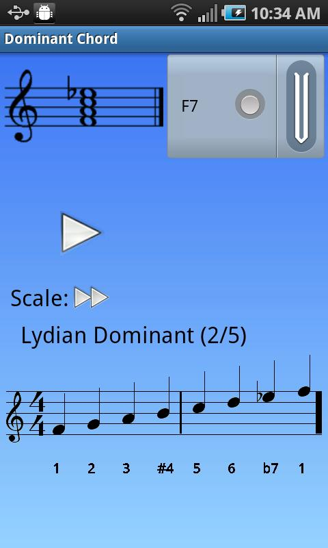iImprov Chord/Scale Compendium- screenshot