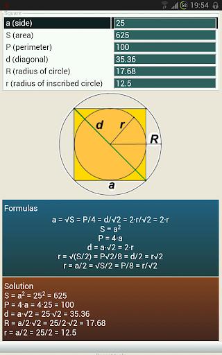 Solve geometry with MathX Lite 1.2.1 screenshots 2