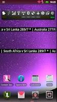 Screenshot of Live Cricket Score Widget