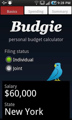 Budgie Budget Calculator