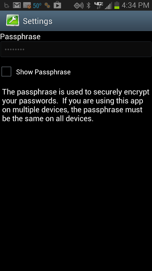 What's My Password - screenshot