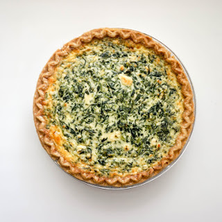 Spinach & Feta Quiche.
