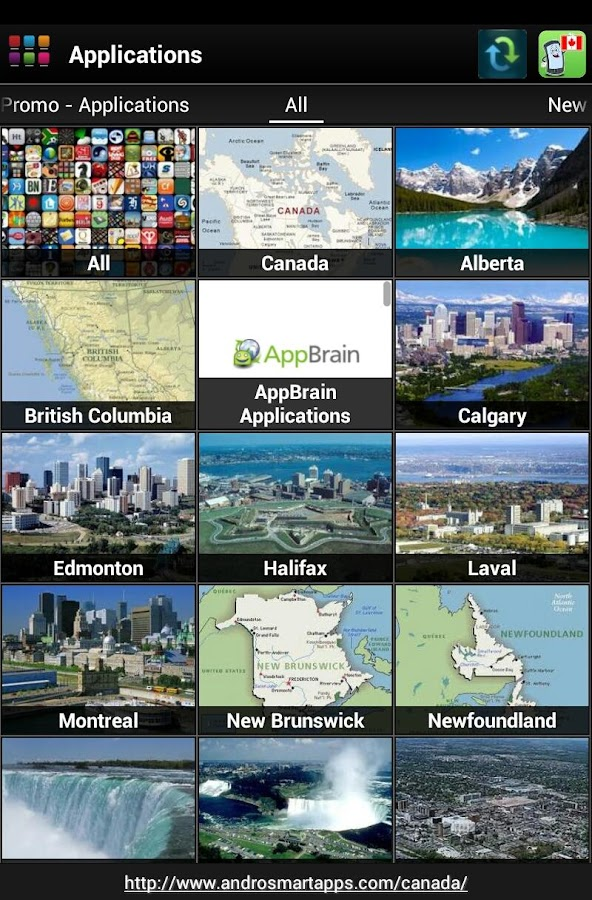 Canada Android - screenshot