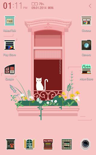 Over the window Atom Theme