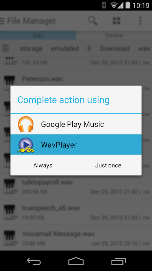 WavPlayer- screenshot