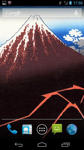浮世絵ライブ壁紙-葛飾北斎 富嶽三十六景Vol.4