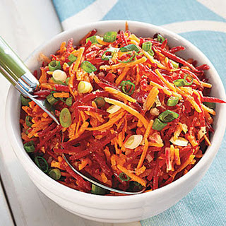 Carrot, Beet and Ginger Salad.