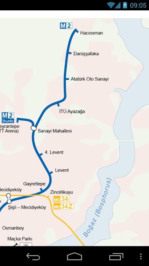 Istanbul Metro & Tram Map Free - screenshot