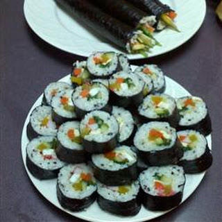 Kimbop (Korean Sushi).