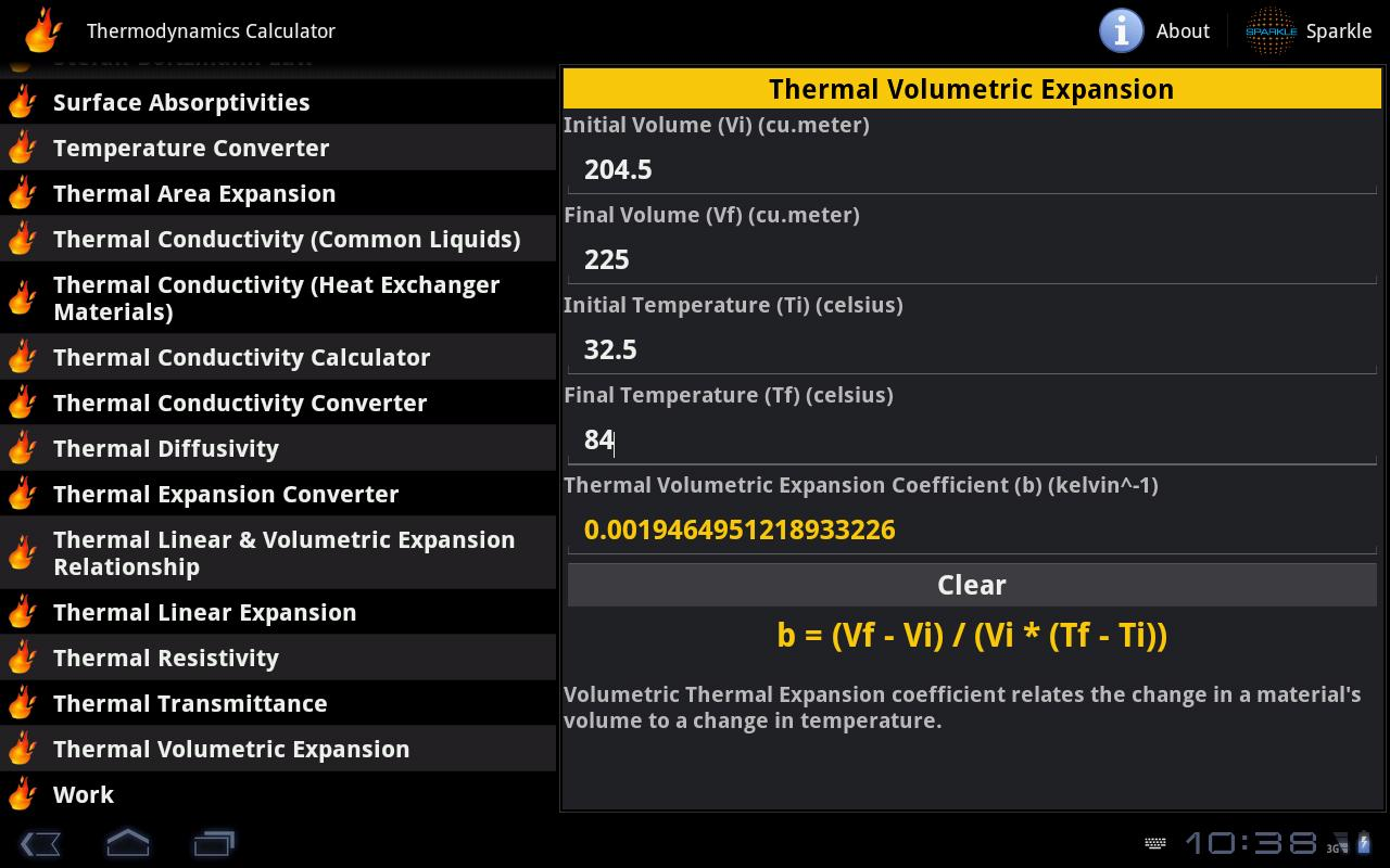 Thermodynamics Calc. Tablet- screenshot