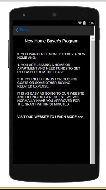 New Home Buyer's Program- screenshot