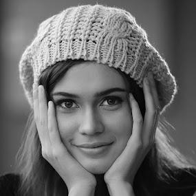 by Otomakus Oksidicneb - Black & White Portraits & People ( sexy, girl, beautiful, pretty, portrait )
